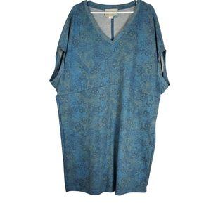 ANTHROPOLOGIE V-Neck Kaftan Style Dress